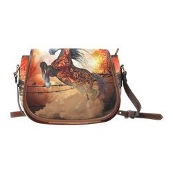 Awesome creepy horse with skulls Saddle Bag/Small (Model 1649) Full Customization