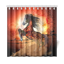 "Awesome creepy horse with skulls Shower Curtain 72""x72"""