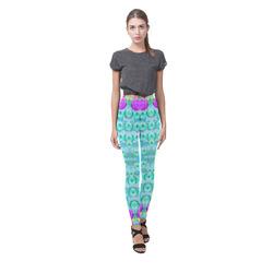 Season for roses and polka dots Cassandra Women's Leggings (Model L01)