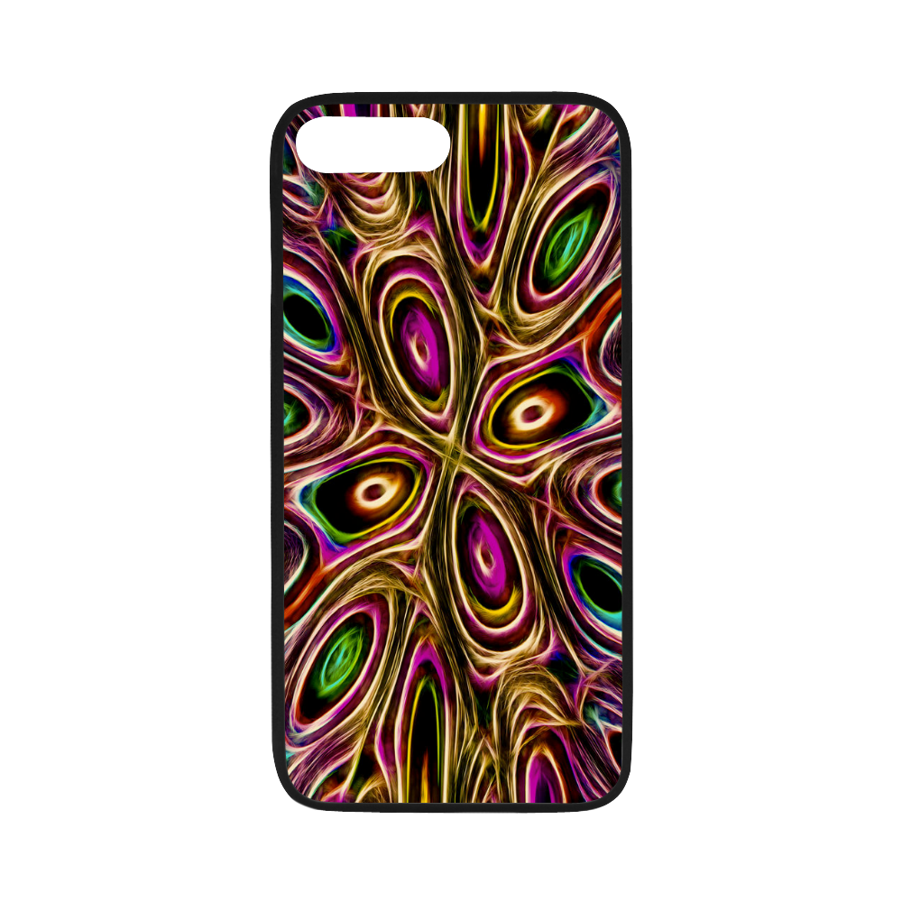"Peacock Strut II - Jera Nour Rubber Case for iPhone 7 plus (5.5"")"