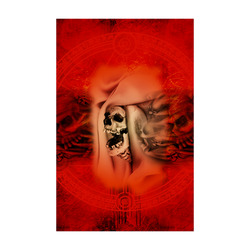 "Creepy skulls on red background Poster 22""x34"""