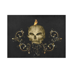 The golden skull Placemat 14'' x 19''