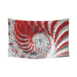 """Red and White Stripes Triangles Geometric Cotton Linen Wall Tapestry 90""""x 60"""""""