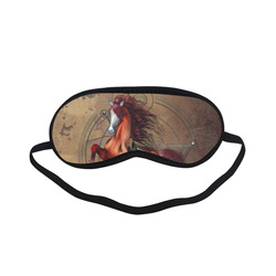 Wonderful horse with skull, red colors Sleeping Mask