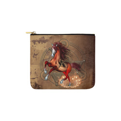 Wonderful horse with skull, red colors Carry-All Pouch 6''x5''