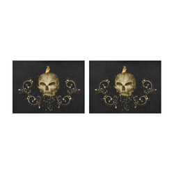 The golden skull Placemat 14'' x 19'' (Two Pieces)