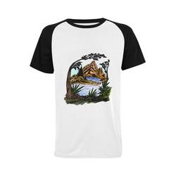 The Outdoors Men's Raglan T-shirt (USA Size) (Model T11)