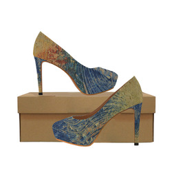 3 colors paint Women's High Heels (Model 044)