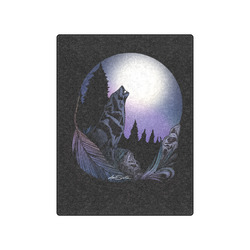 """Howling Wolf Blanket 50""""x60"""""""