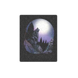 """Howling Wolf Blanket 40""""x50"""""""