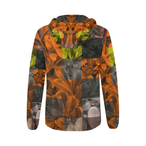 Foliage Patchwork #9 - Jera Nour All Over Print Full Zip Hoodie for Women (Model H14)