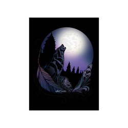 """Howling Wolf Poster 18""""x24"""""""