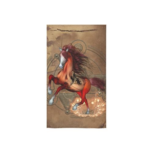 """Wonderful horse with skull, red colors Custom Towel 16""""x28"""""""