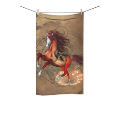 "Wonderful horse with skull, red colors Custom Towel 16""x28"""