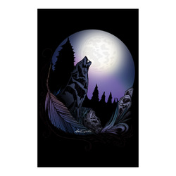 "Howling Wolf Poster 23""x36"""