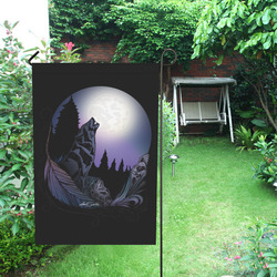 Howling Wolf Garden Flag 12''x18''(Without Flagpole)