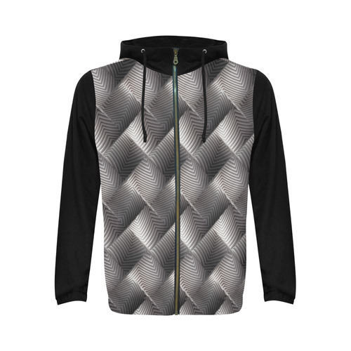 Metallic Tile - Jera Nour All Over Print Full Zip Hoodie for Men (Model H14)