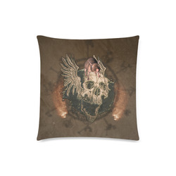 "Awesome skull with rat Custom Zippered Pillow Case 18""x18"" (one side)"