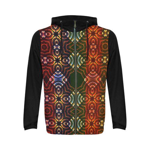 Batik Maharani #3 - Jera Nour All Over Print Full Zip Hoodie for Men (Model H14)