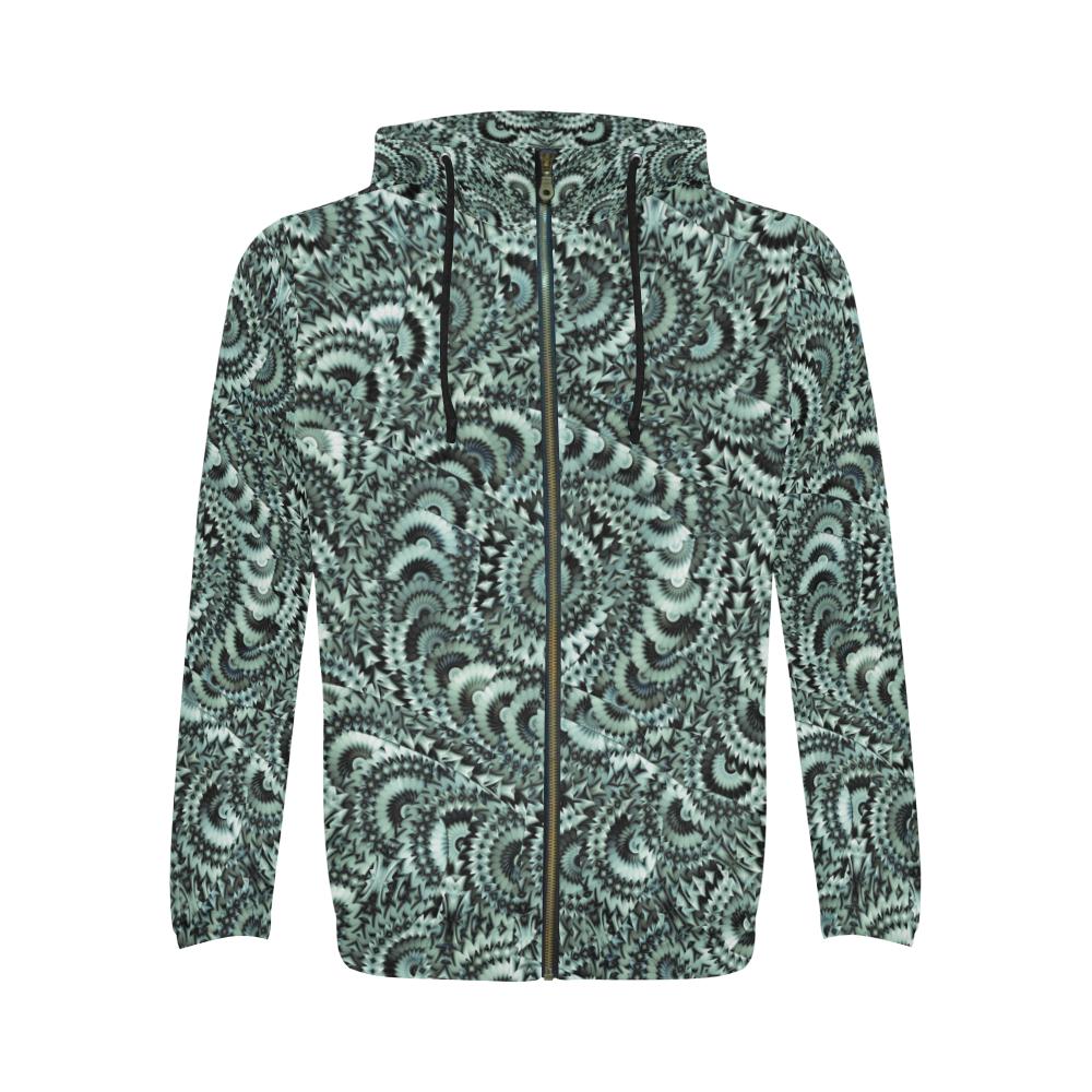 Batik Maharani #4B - Jera Nour All Over Print Full Zip Hoodie for Men (Model H14)