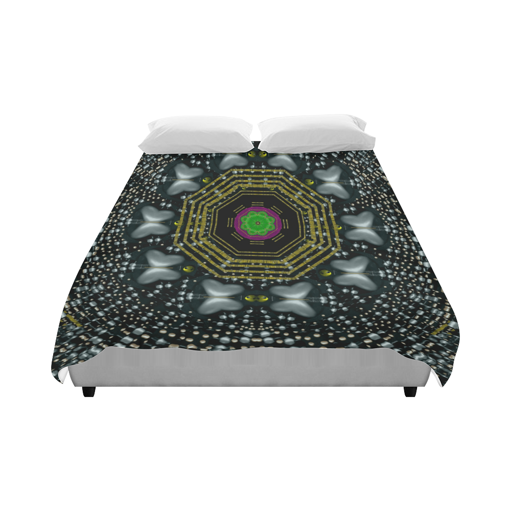 "Leaf earth and heart butterflies in the universe Duvet Cover 86""x70"" ( All-over-print)"