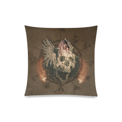 """Awesome skull with rat Custom Zippered Pillow Case 20""""x20""""(One Side)"""