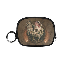 Awesome skull with rat Coin Purse (Model 1605)