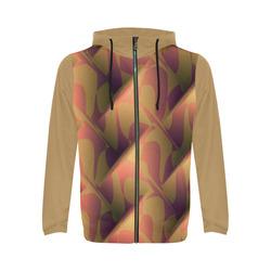 Subtle Orange Cubik - Jera Nour All Over Print Full Zip Hoodie for Men (Model H14)