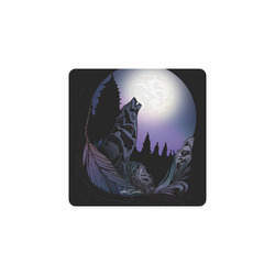 Howling Wolf Square Coaster