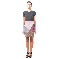 Patched in Pink Patterns Nemesis Skirt (Model D02)