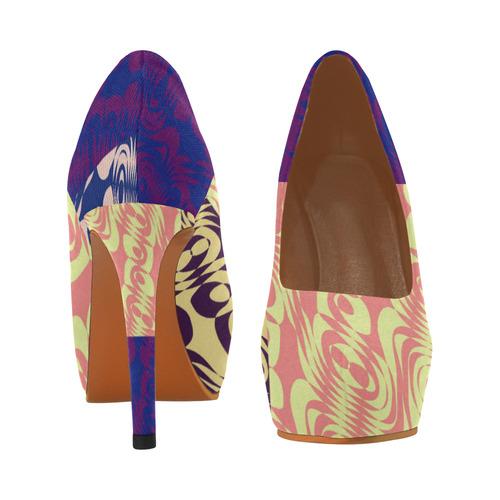 Patched Swirls Women's High Heels (Model 044)