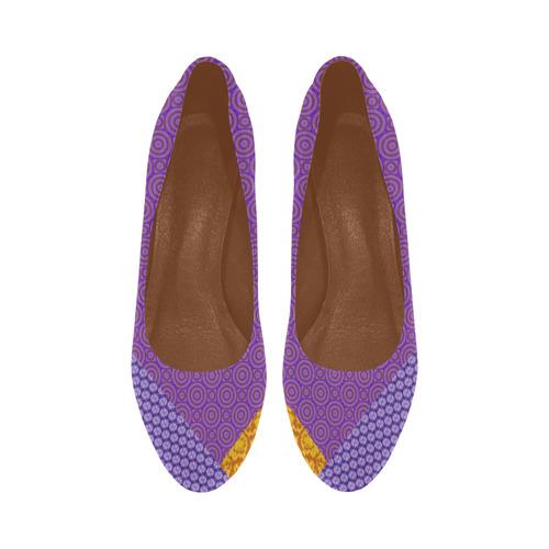 Orange and Purple Clash Women's High Heels (Model 044)
