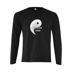 Forever Yang (Yin Yang) Sunny Men's T-shirt (long-sleeve) (Model T08)