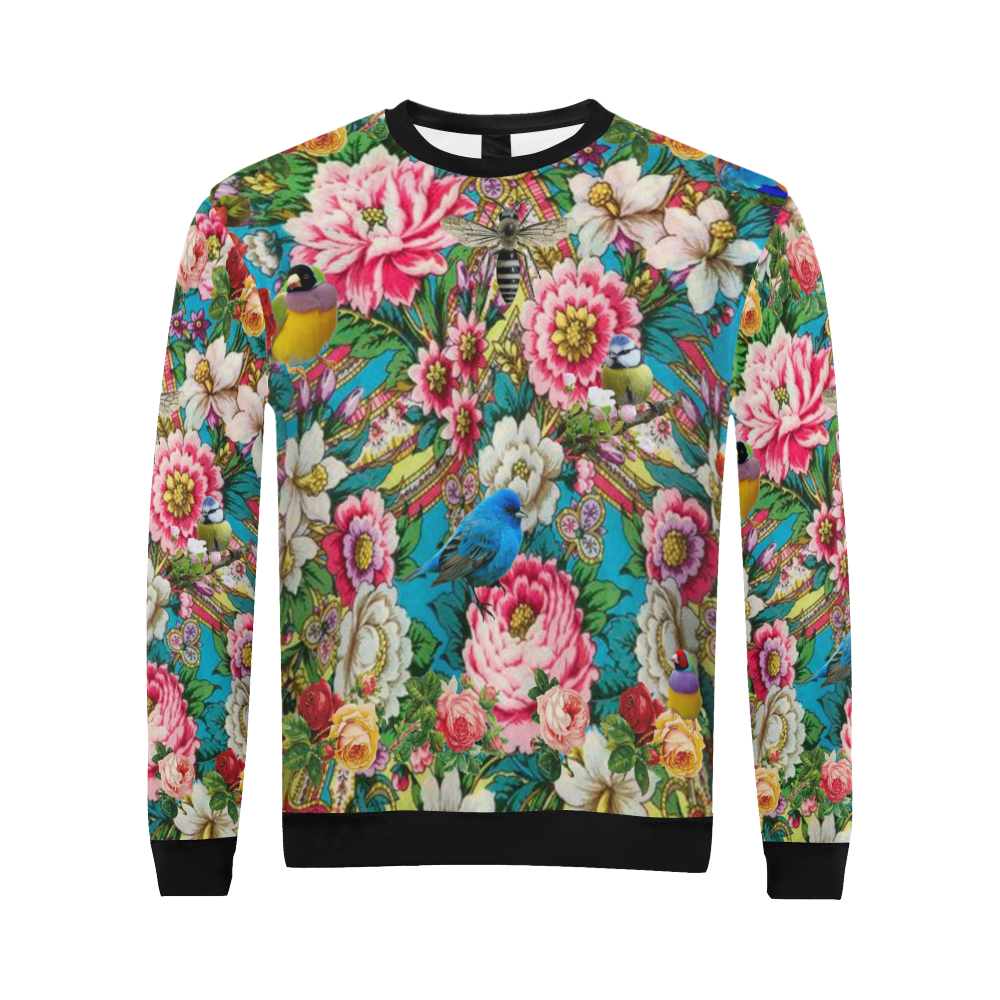Russian Birdforest All Over Print Crewneck Sweatshirt for Men (Model H18)