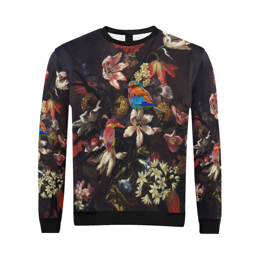 Old Masters Flower Show All Over Print Crewneck Sweatshirt for Men (Model H18)