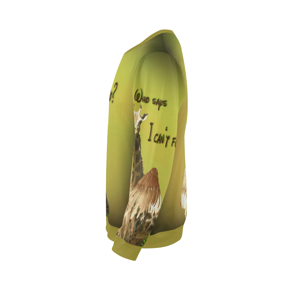 The flying giraffe All Over Print Crewneck Sweatshirt for Men (Model H18)