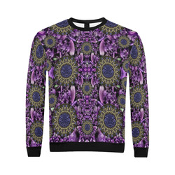 Flowers from paradise in fantasy elegante All Over Print Crewneck Sweatshirt for Men (Model H18)