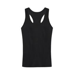 This My Color Black Plus-size Men's I-shaped Tank Top (Model T32)
