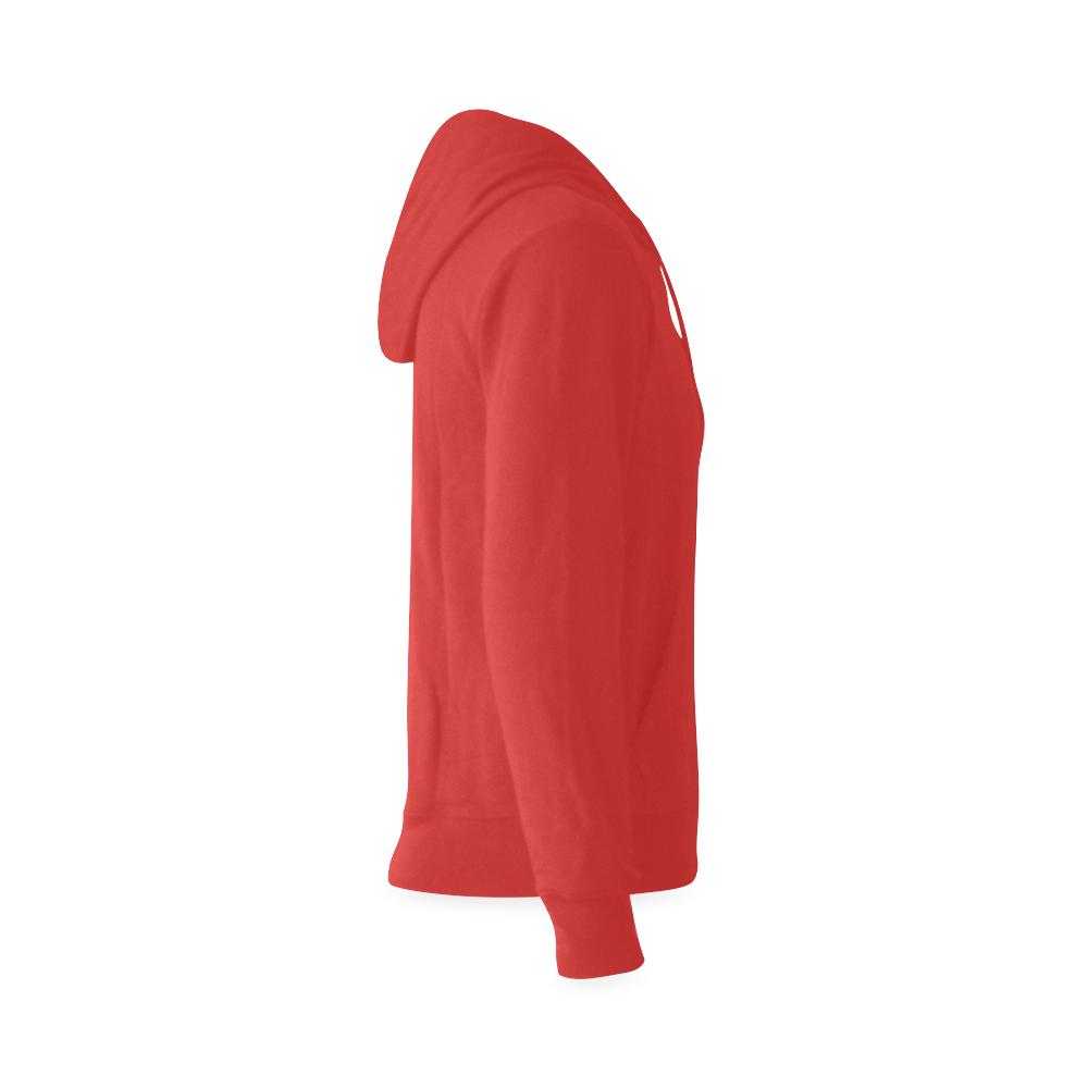This My Color Washdown Red Gildan Hoodie Sweatshirt (Model H03)
