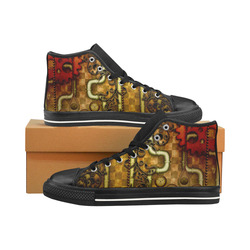 wonderful noble steampunk design Men's Classic High Top Canvas Shoes /Large Size (Model 017)