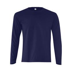 This My Color Dark Blue Sunny Men's T-shirt (long-sleeve) (Model T08)