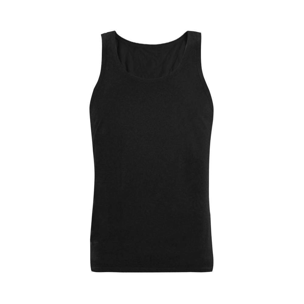 This My Color Black Plus-size Men's Shoulder-Free Tank Top (Model T33)