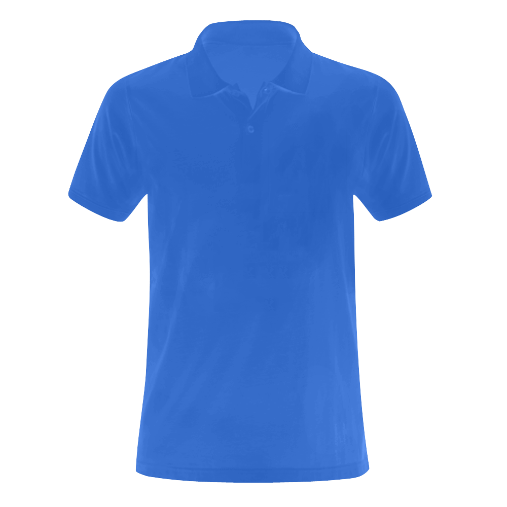 This My Color Bright Blue Men's Polo Shirt (Model T24)