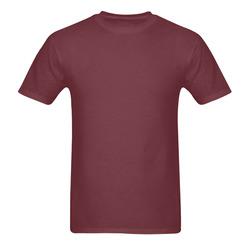 This My Color RedPurple Sunny Men's T- shirt (Model T06)