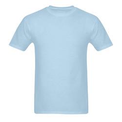 This My Color Liquid Blue Sunny Men's T- shirt (Model T06)