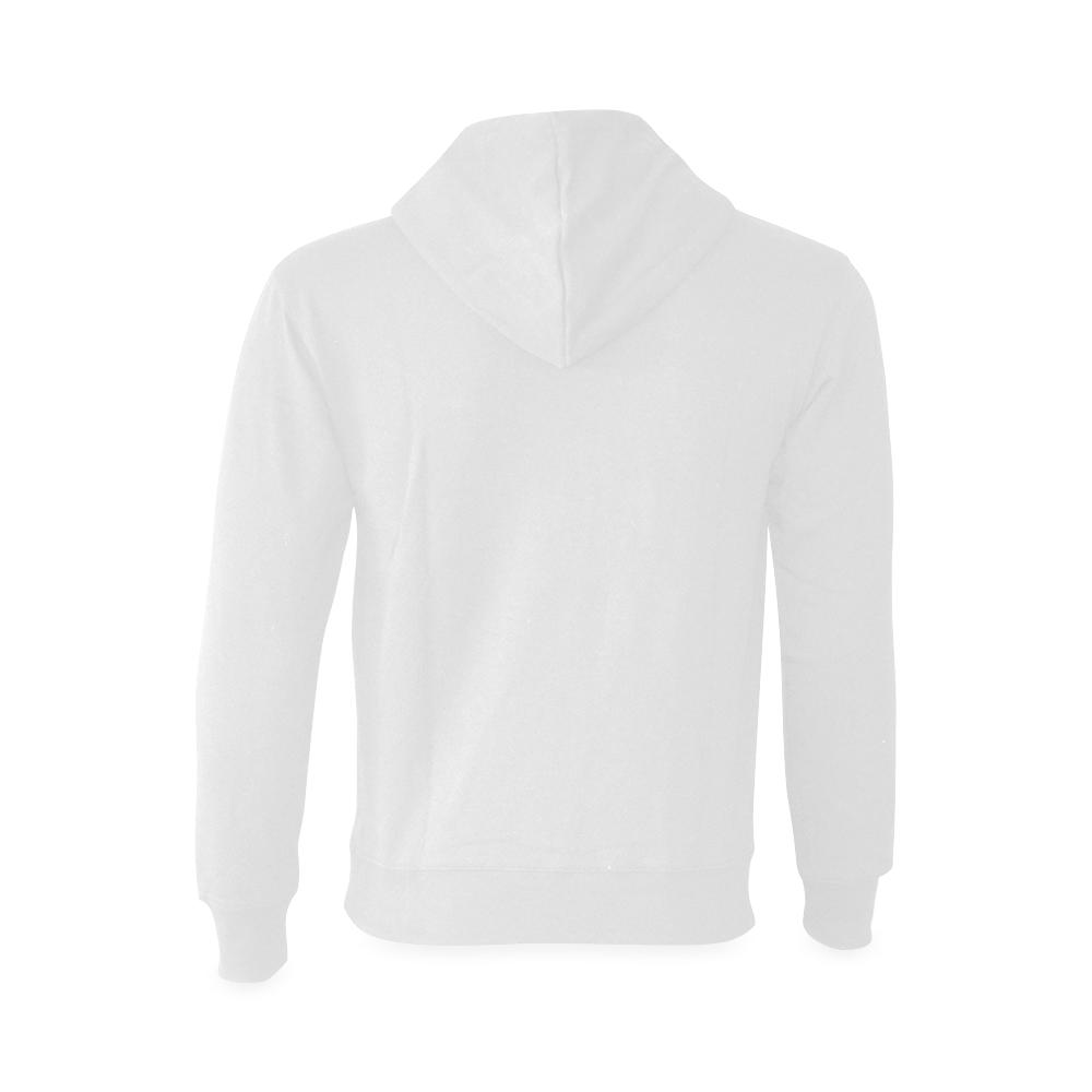 This My Color Pure White Gildan Hoodie Sweatshirt (Model H03)