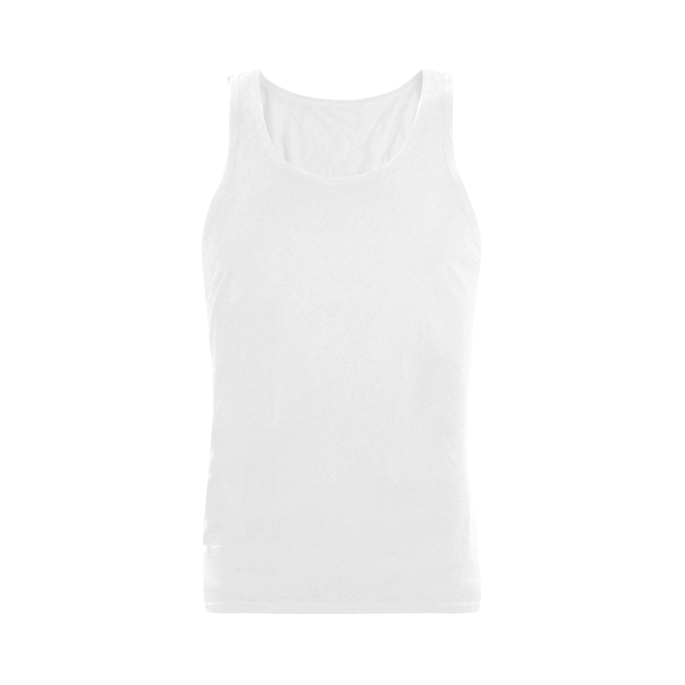 This My Color White Men's Shoulder-Free Tank Top (Model T33)