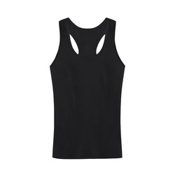 This My Color Black Men's I-shaped Tank Top (Model T32)