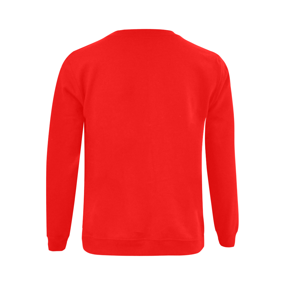 This My Color OrangeRed Gildan Crewneck Sweatshirt(NEW) (Model H01)