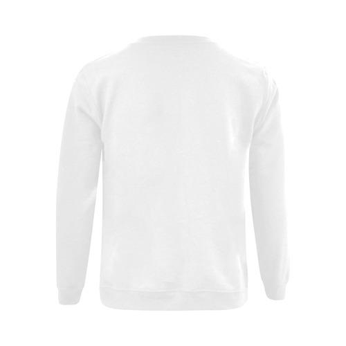 This My Color Pure White Gildan Crewneck Sweatshirt(NEW) (Model H01)